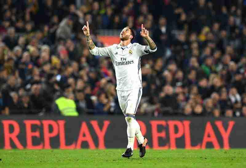 Sergio Ramos celebración gol en el minuto 90