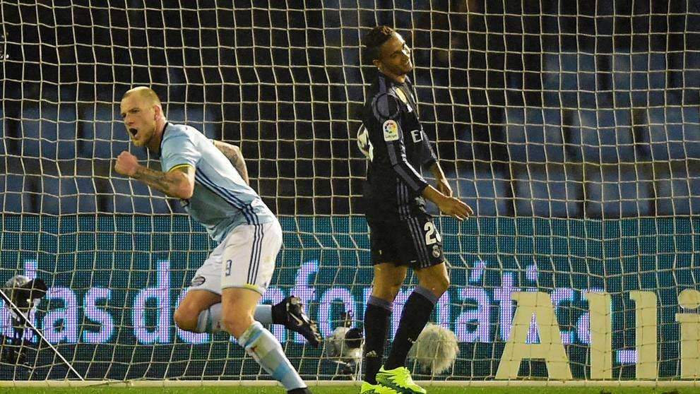 Danilo se lamenta gol propia puerta Celta