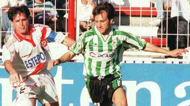 Cota y Alfonso en el Rayo-Betis de la temporada 96/97
