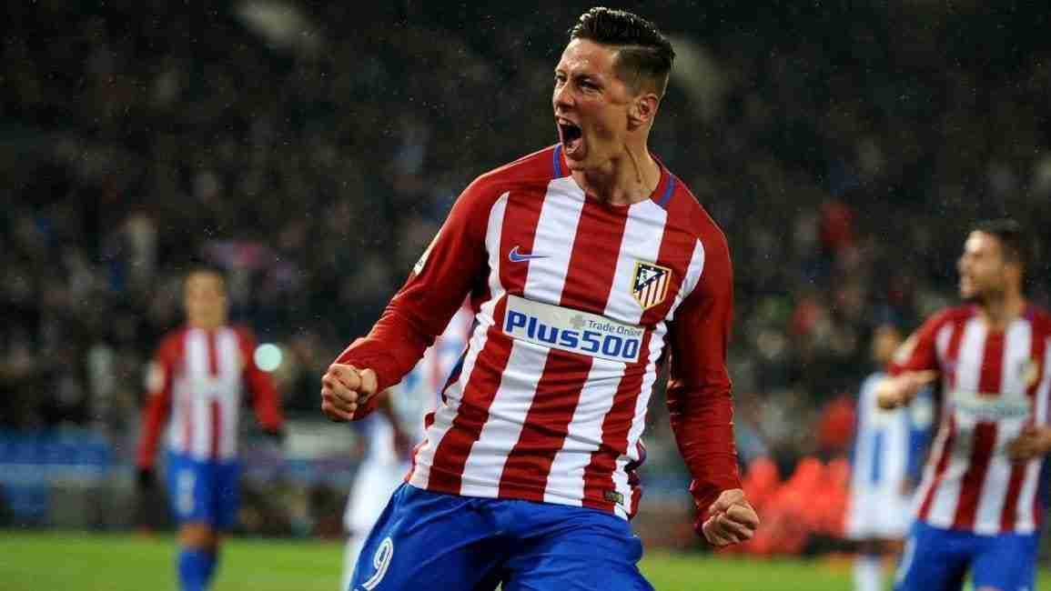 Fernando Torres celebra gol contra Leganés