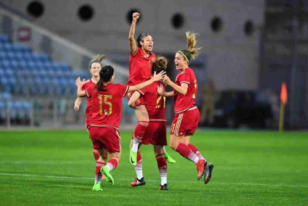 Leila, tras marcar el gol