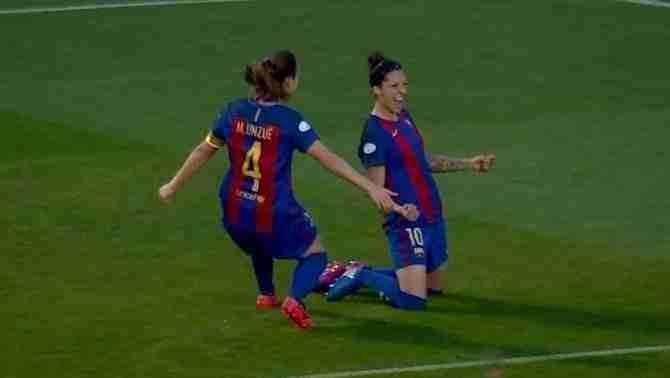 Jennifer Hermoso celebrando el gol