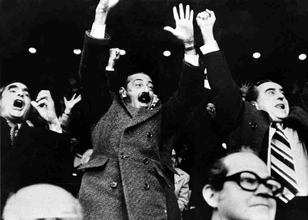 Massera, Videla y Agosti festejan el gol de Bertoni