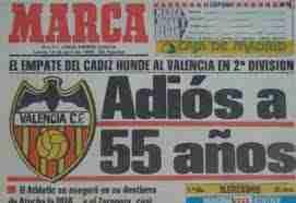 Portada Marca descenso Valencia