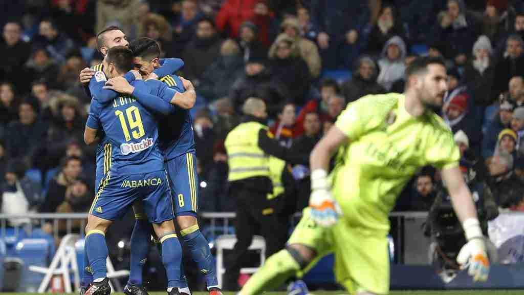Celta celebra gol Madrid