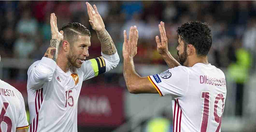 Sergio Ramos Diego Costa selección