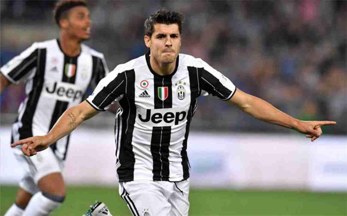 Alvaro Morata celebra gol Juventus