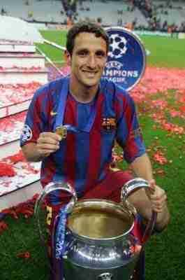 Belletti posando Copa de Europa