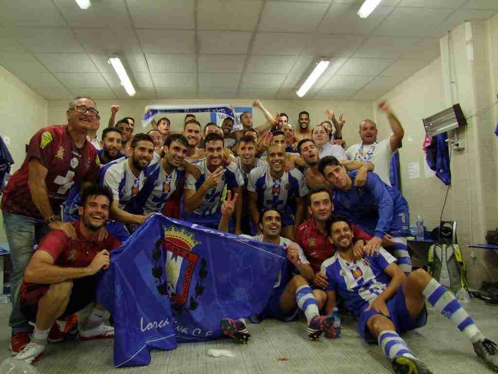 Celebración del ascenso del Lorca Deportiva a Segunda B