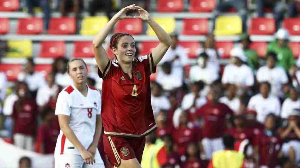 Aitana celebra gol selección española