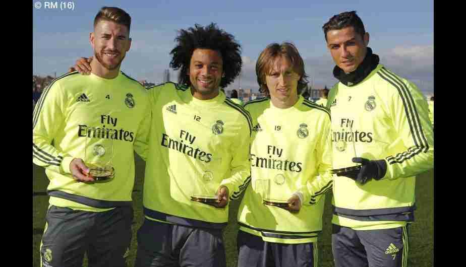 Sergio Ramos Marcelo Modric y Cristiano Ronaldo