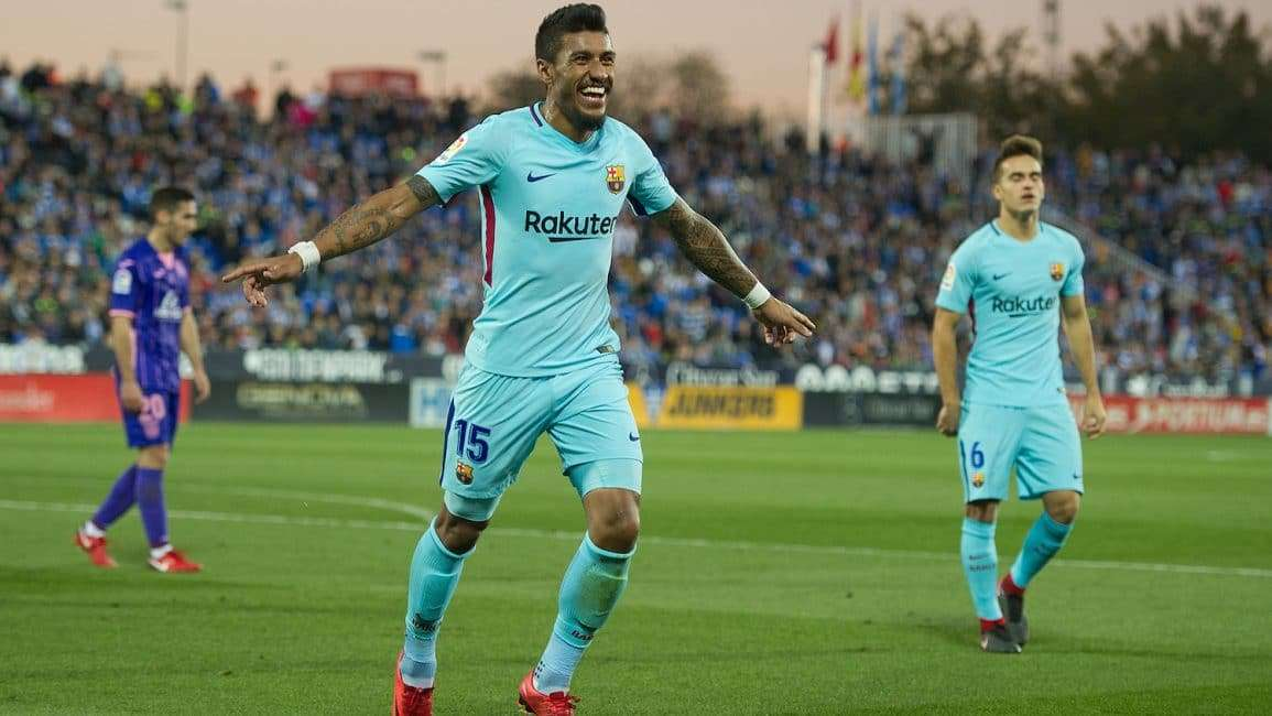 Paulinho celebrando gol contra Leganés