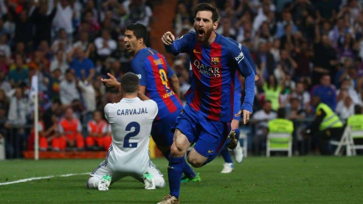 Messi gol Madrid Liga