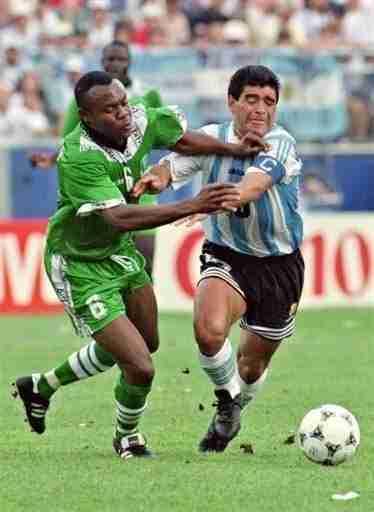 Nwanu y Maradona Mundial de 1994