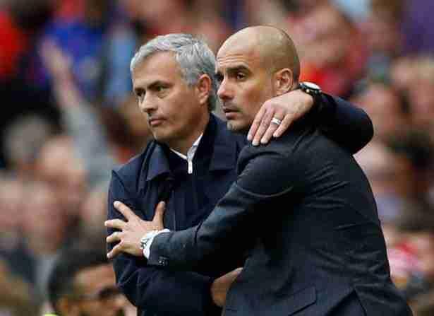 Mourinho abraza Guardiola