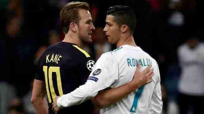 Harry Kane y Cristiano Ronaldo