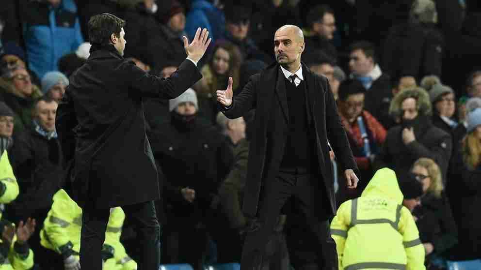 Guardiola Pochettino Tottenham Manchester City