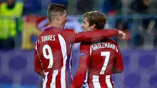 Torres y Griezmann celebran gol