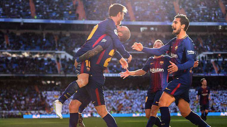 FC Barcelona celebra gol Aleix Vidal