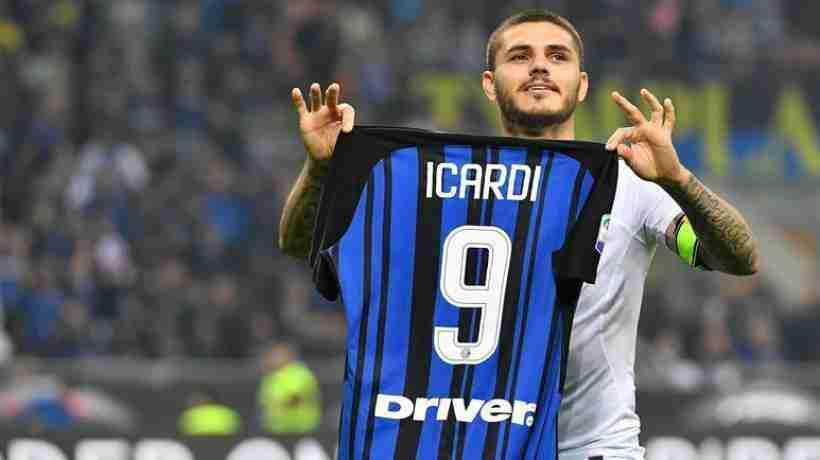 Icardi celebra gol Inter Milán