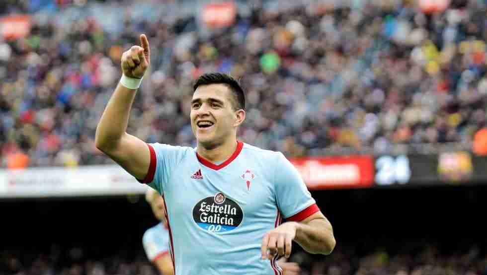 Maxi Gómez Celta celebra gol Liga