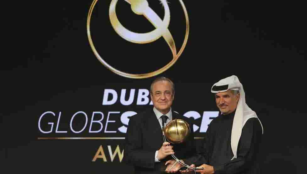 Florentino Pérez premio Globe Soccer Awards