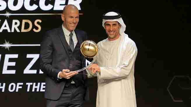 Zinedine Zidane premio mejor entrenador Globe Soccer Awards