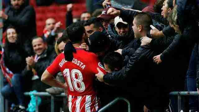 Diego Costa celebra gol Atlético Madrid