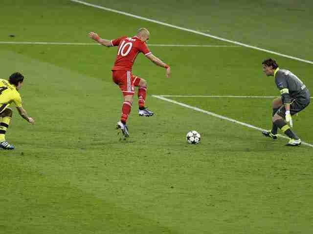 Robben gol Weidenfeller Final de la Liga de Campeones de 2013
