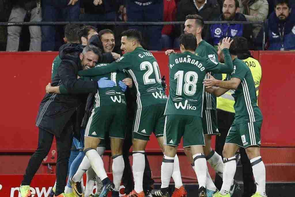 Sevilla Betis celebración