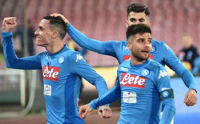 Callejón celebra gol Nápoles