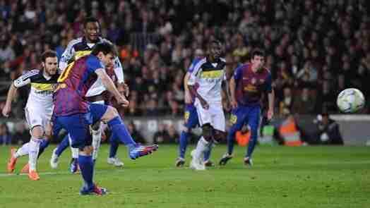 Messi falla penalti Chelsea