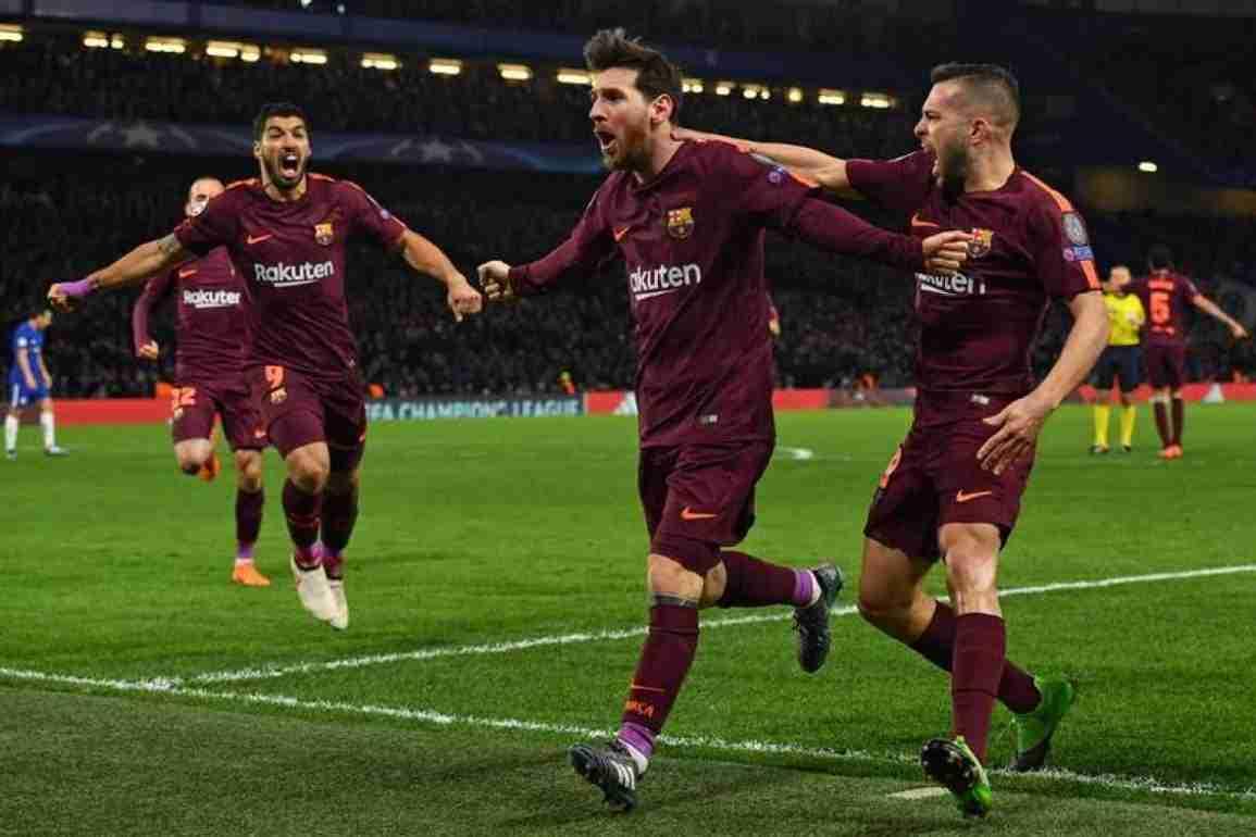Messi celebra gol Chelsea Barcelona