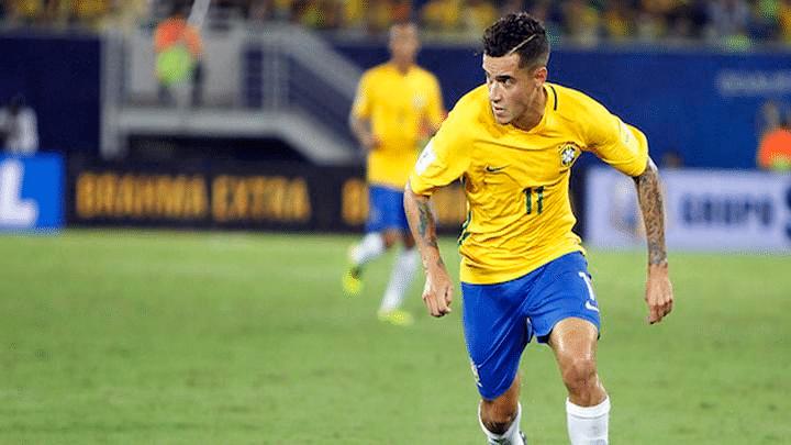 Coutinho jugando Brasil