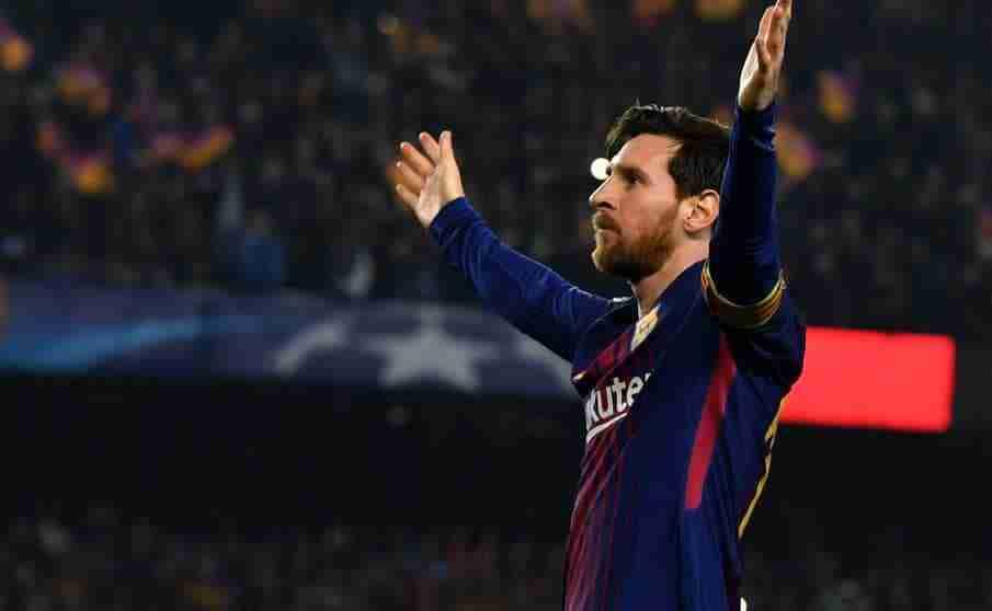 Messi celebra gol Barcelona Chelsea