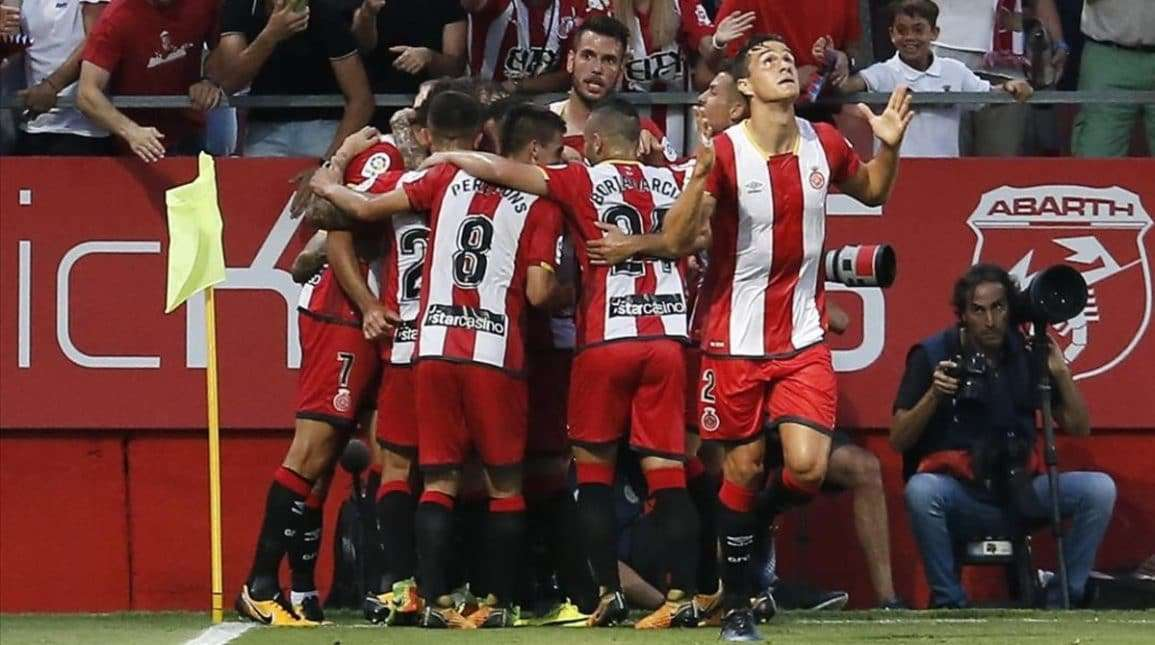 Girona celebra gol