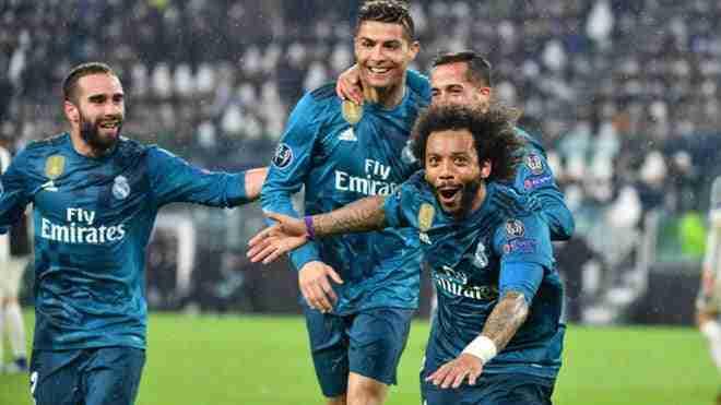 Marcelo celebra gol Madrid Juventus