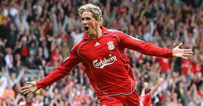 Fernando Torres celebra gol Liverpool