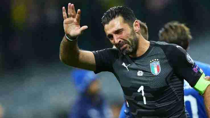 Buffon se despide Italia