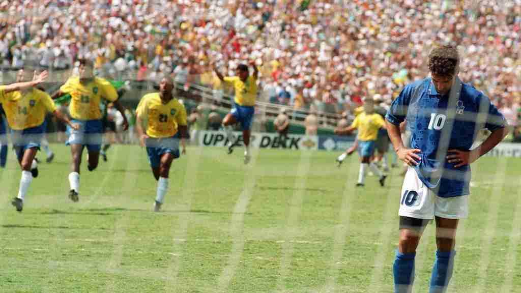 Roberto Baggio falla penalti Brasil