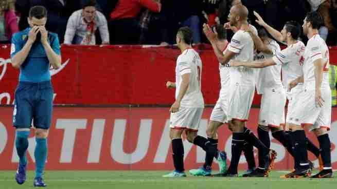 Sevilla celebra gol Real Madrid