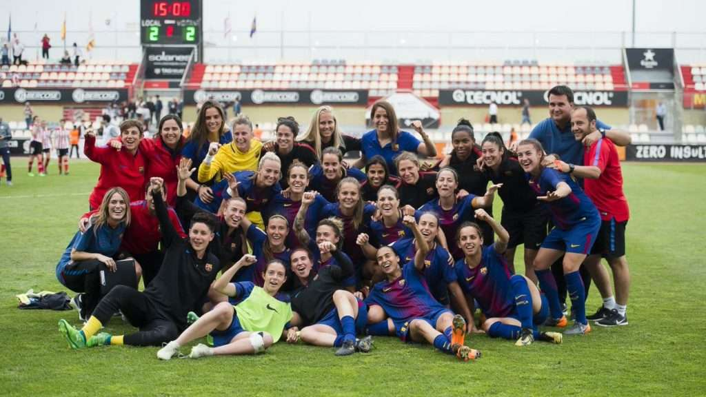 Celebración Barcelona femenino