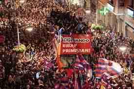 Celebración ascenso Eibar