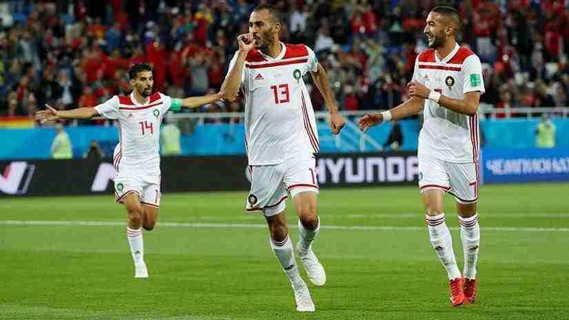 Khalid Boutaib celebrando