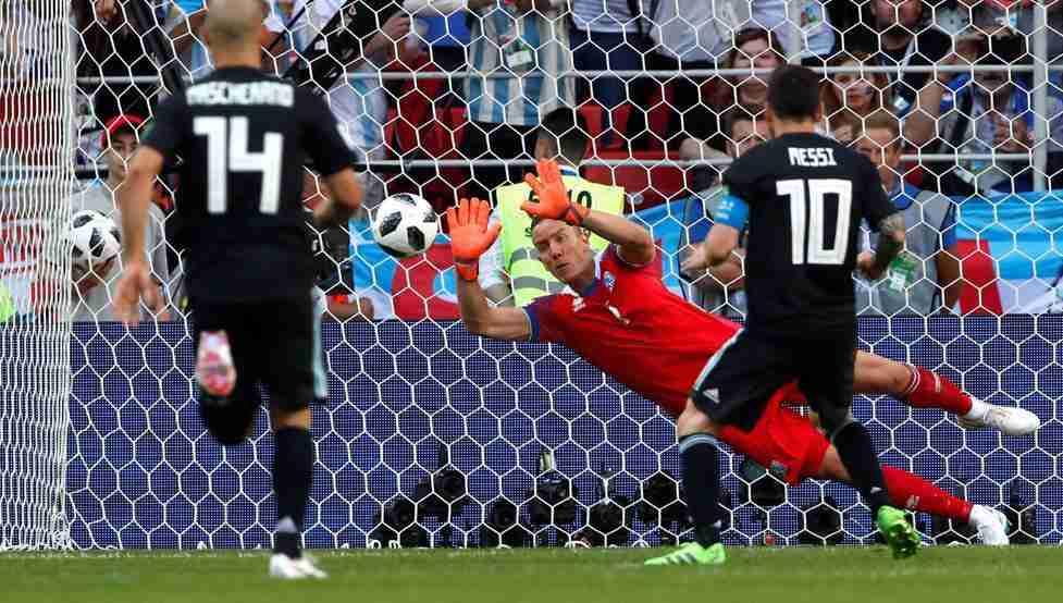 Messi falla penalti Islandia