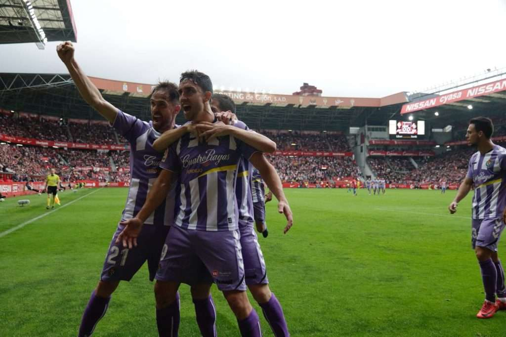 Jaime Mata celebra gol Valladolid