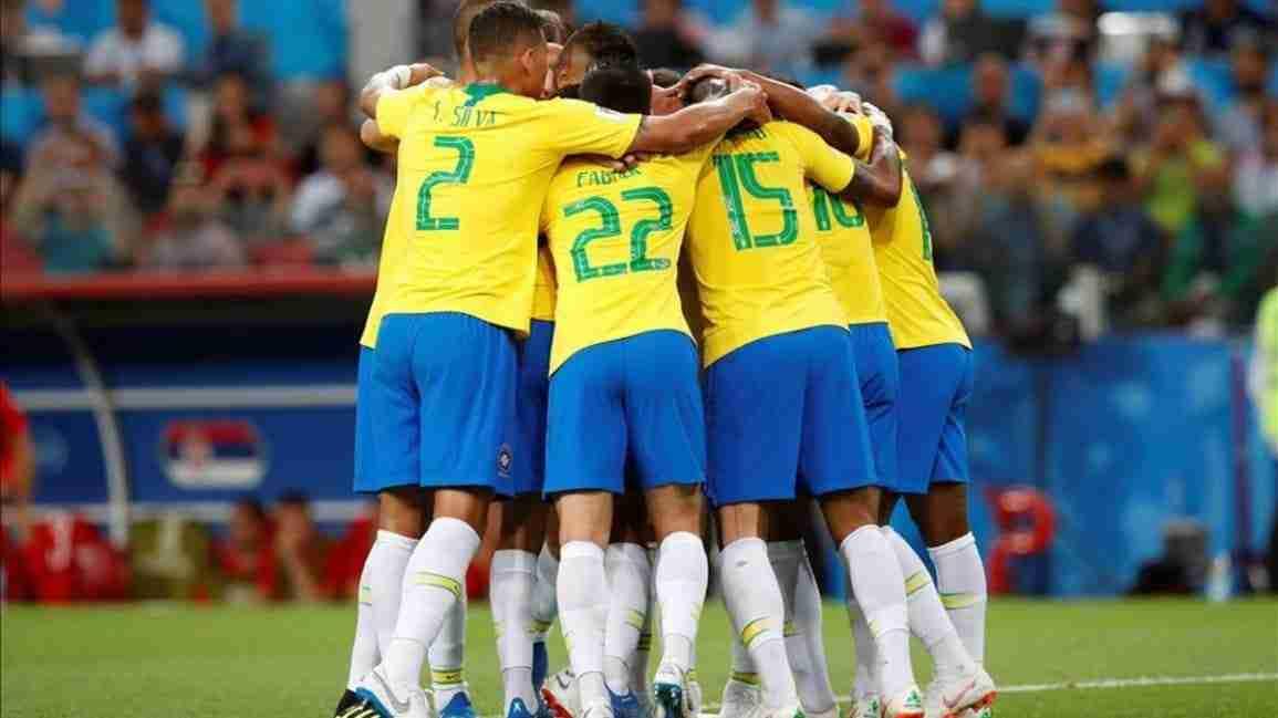 Brasil celebra gol