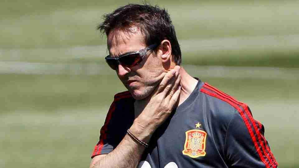 Julen Lopetegui entrenamiento España