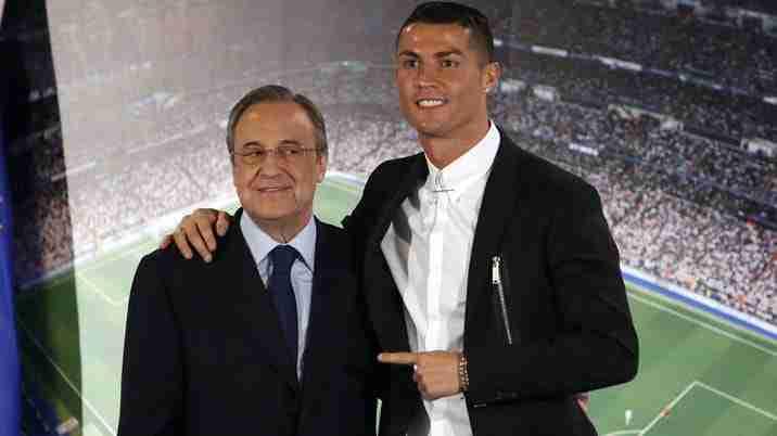 Florentino y Cristiano Ronaldo en su renovación