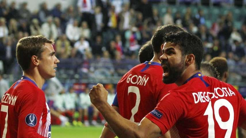 Diego Costa celebrando gol Supercopa Europa